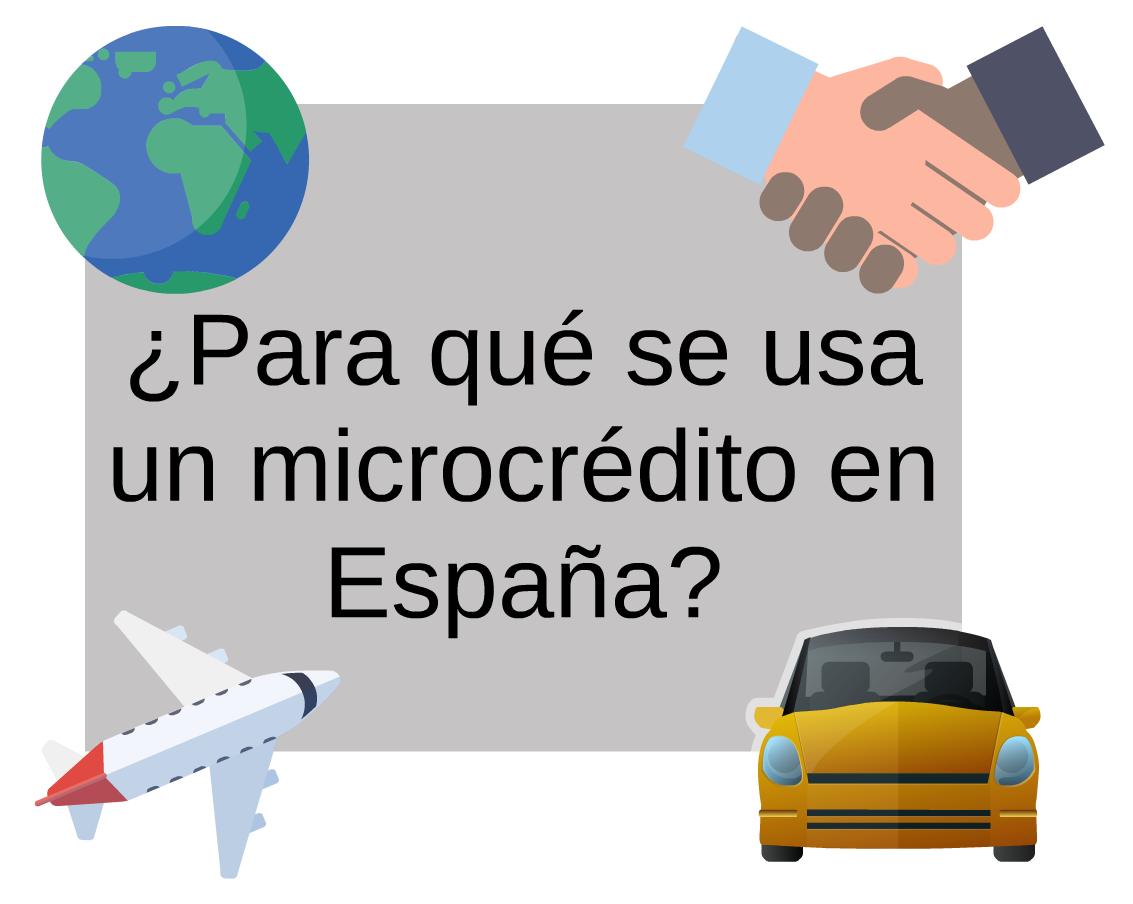Usos más frecuentes de los microcréditos en España