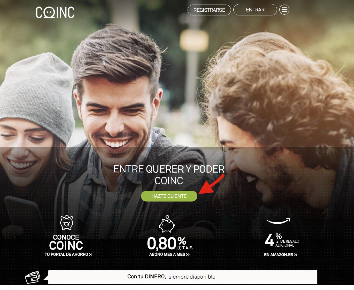Hazte cliente Coinc