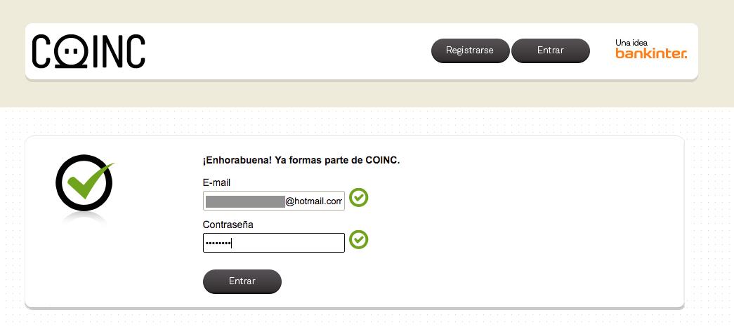 Confirmación mail Coinc