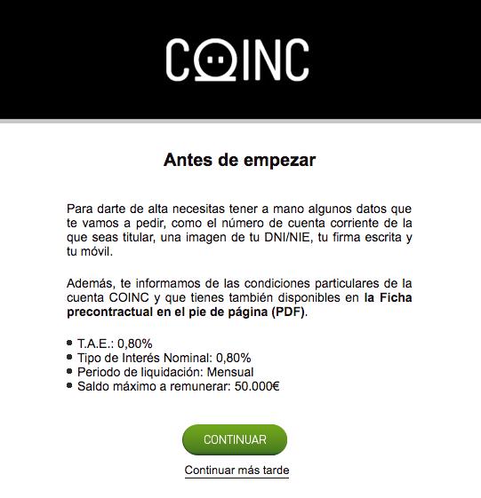 Condiciones y ficha precontractual Coinc