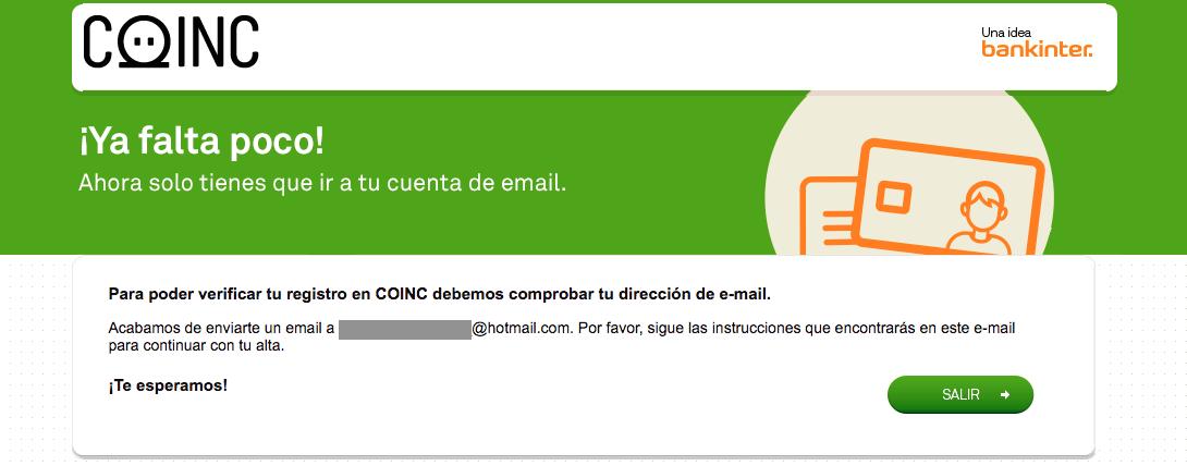 Registro del mail