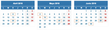 Calendario fiscal 2016 foro