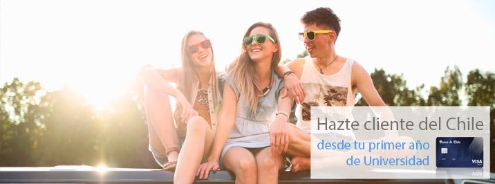 Mejores cuentas para jóvenes: Banca Joven del Banco de Chile