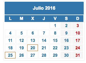 Calendario fiscal julio 2016 foro