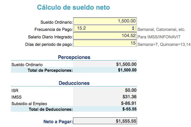 calcular nomina