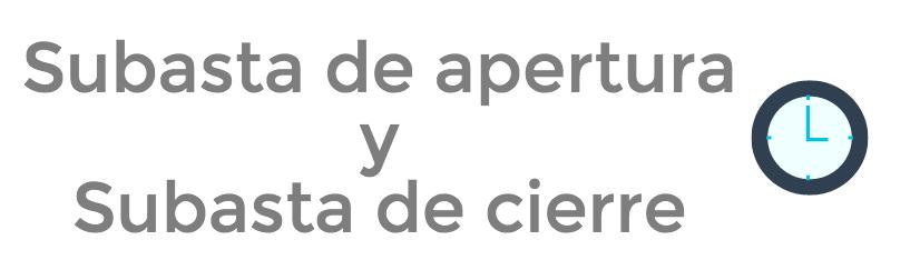 Bolsa de Santiago: Subasta de apertura y subasta de cierre