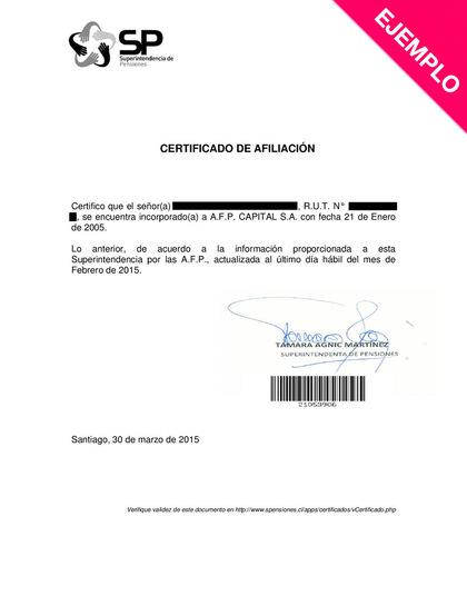Que es el certificado de afiliacion a una afp foro
