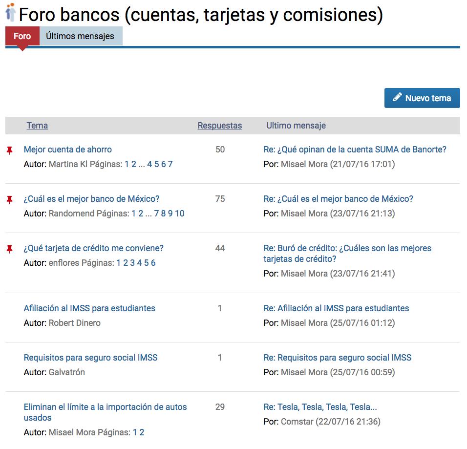 Foro bancos México