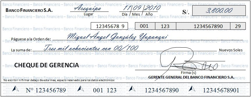 ¿Qué es un cheque?