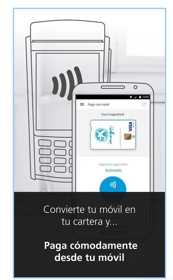 Pagos móvil con imaginbank