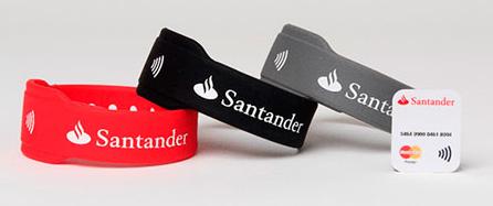 Alternativas a los pagos a través del móvil. Pulsera Santander