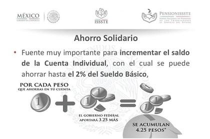 Ahorro solidario ley issste foro