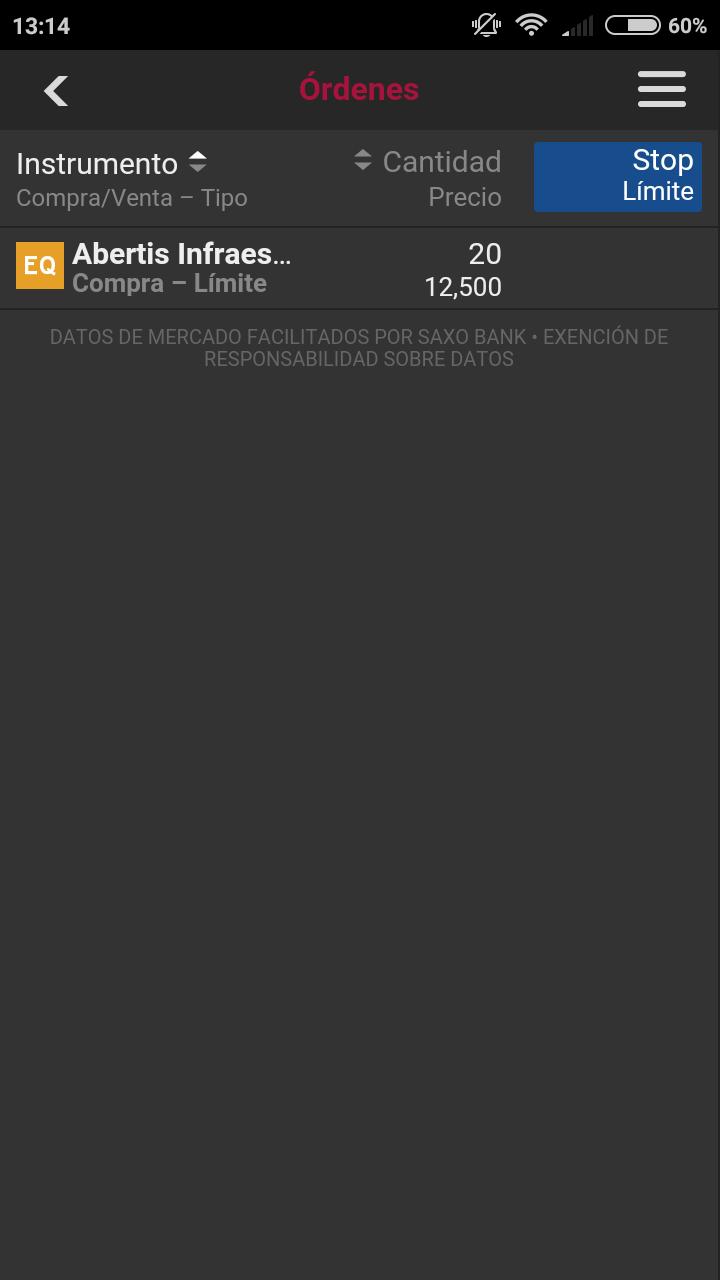 órdenes clicktrade smartphone