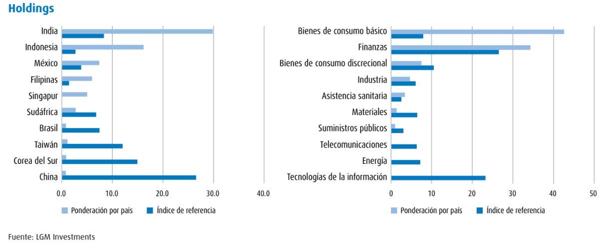Valores cartera emergente BMO Global Asset Management