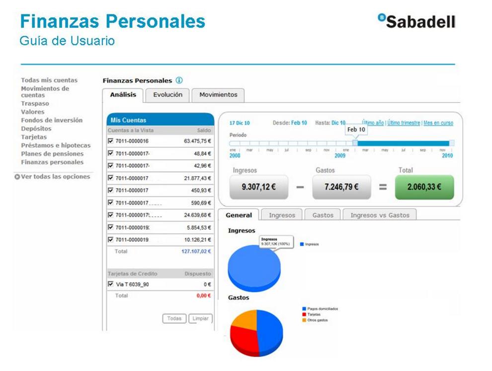 Servicio Finanzas personales de Banco Sabadell