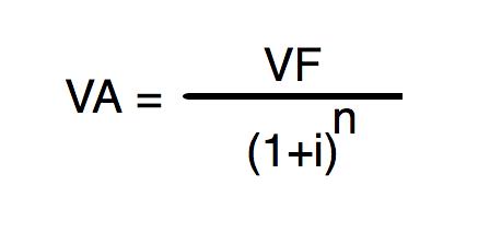 Valor Presente: Fórmulas
