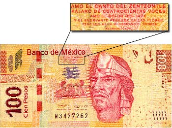 billete 100 pesos