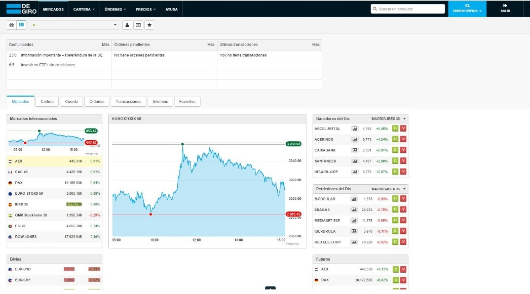 Degiro comprar acciones USA