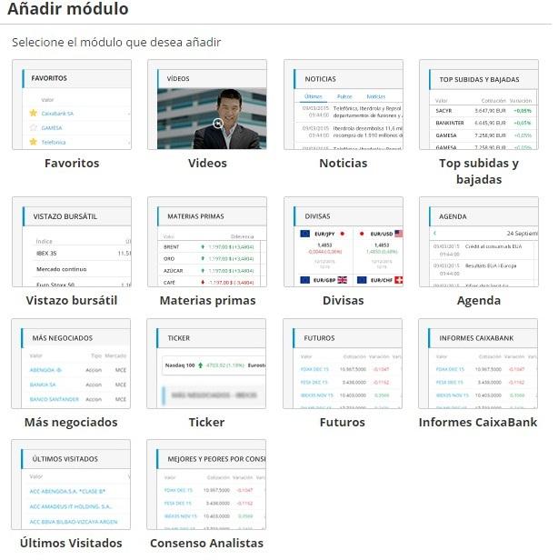 Bolsa abierta modulos informativos