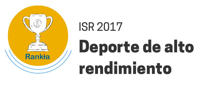 ISR 2017 Deporte alto rendimiento