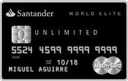 Mejores tarjetas de crédito para 2018: Santander World Elite