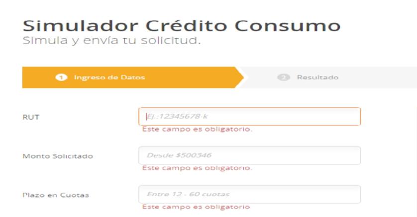 Créditos de consumo Bancoestado: Simulador