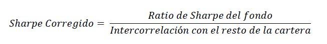 Fórmula del Sharpe Corregido o de Cartera