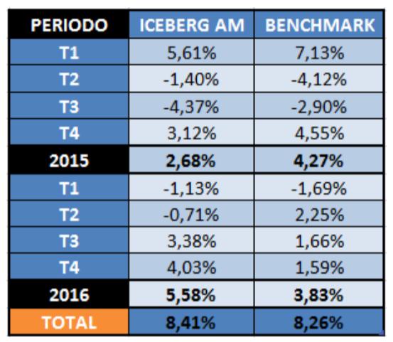 Iceberg Asset Management rentabilidades