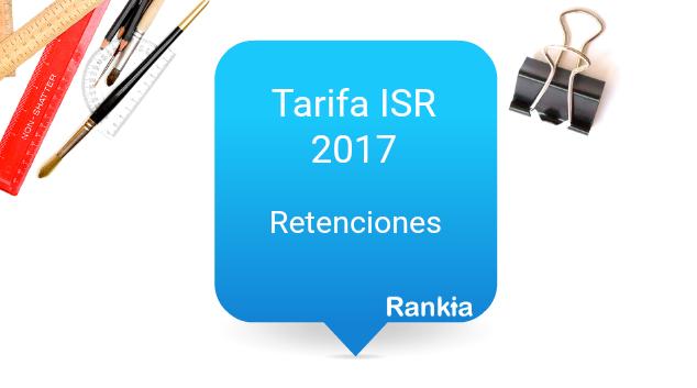 ISR 2017: retenciones