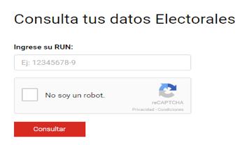 Servel: Datos