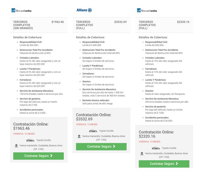mejores aseguradoras: Mercantil Andina y Allianz