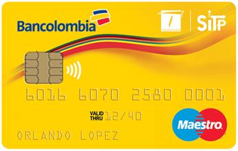Mejores tarjetas de débito para 2018: Bancolombia (Sin contacto)