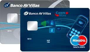 Mejores tarjetas de débito para 2018: Banco AV Villas (Con Chip)