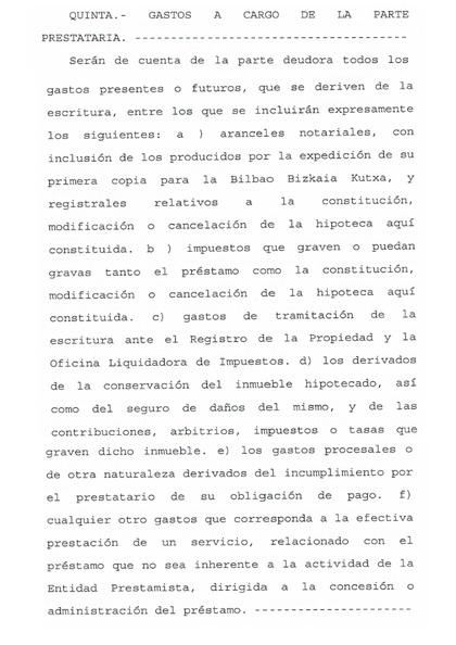 clausula 5 bbk