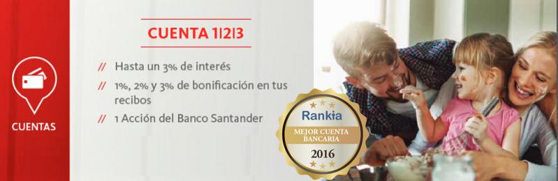 Mejor cuenta bancaria 2016 cuenta 123