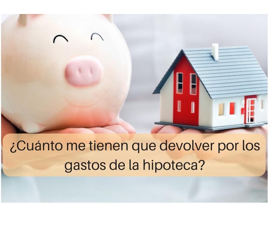 ¿Cuánto dinero me tienen que devolver por los gastos de formalización de hipoteca?