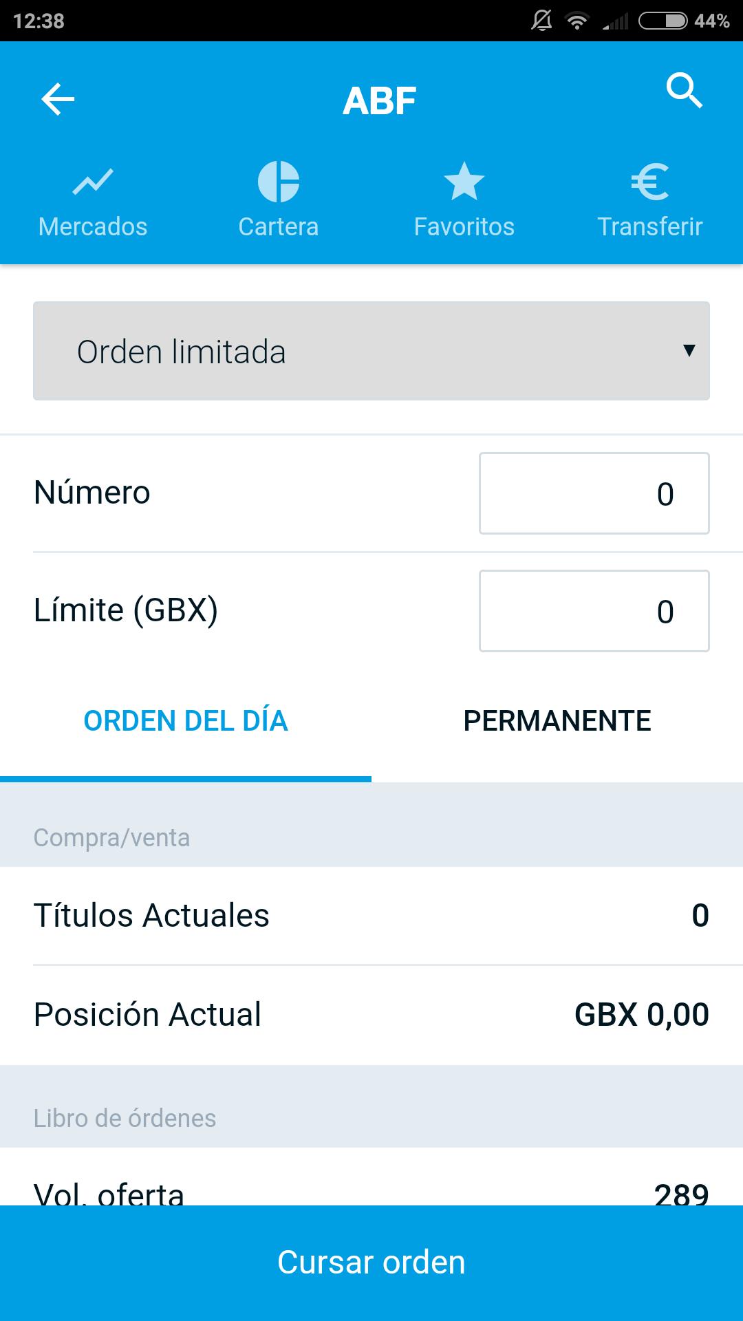 App Degiro ticket operaciones