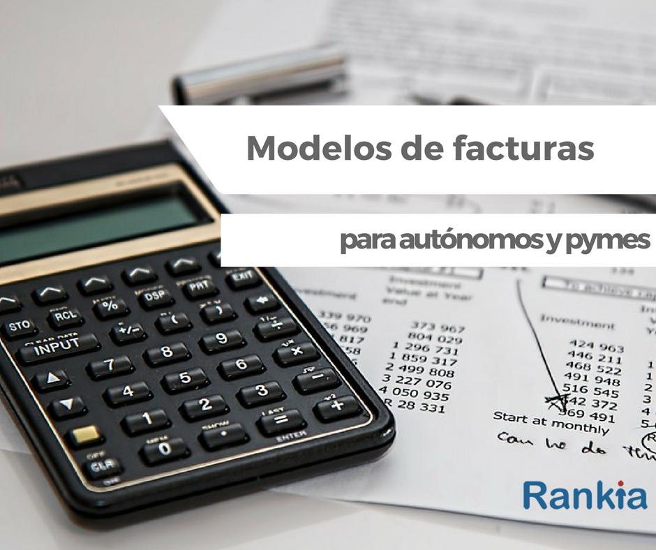 Modelos de facturas para autónomos y pymes