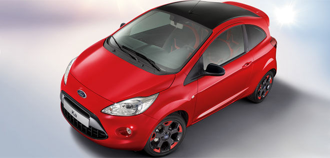 Ford Ka Red & Black