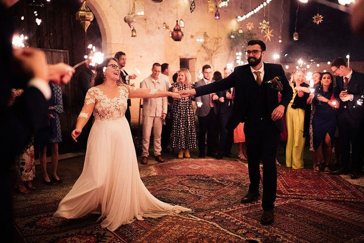 First dance at wedding on Persian rugs