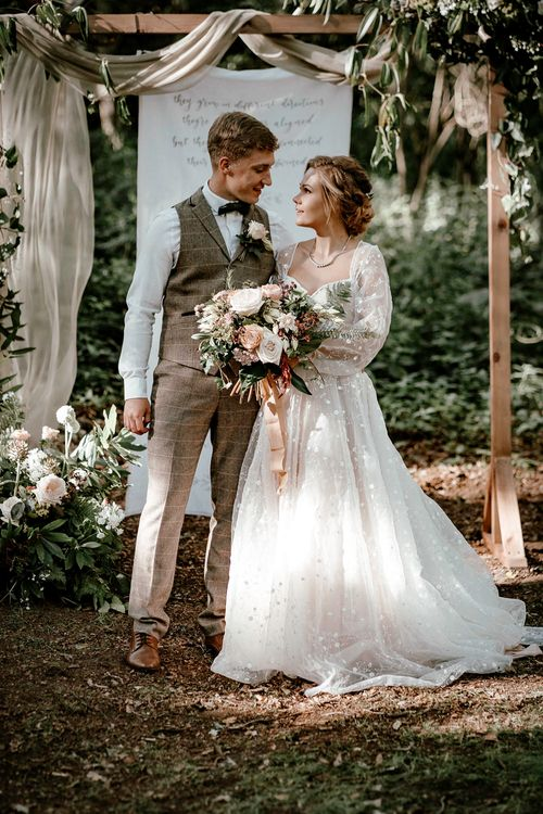 Bride and groom at Sherwood Glade in Nottinghamshire