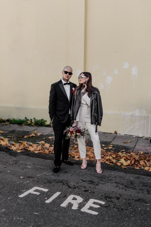 Alternative bride and groom at Brighton micro wedding by Epic Love Story