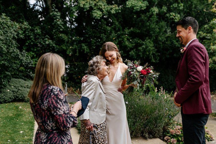 Bride hugging her Grandma
