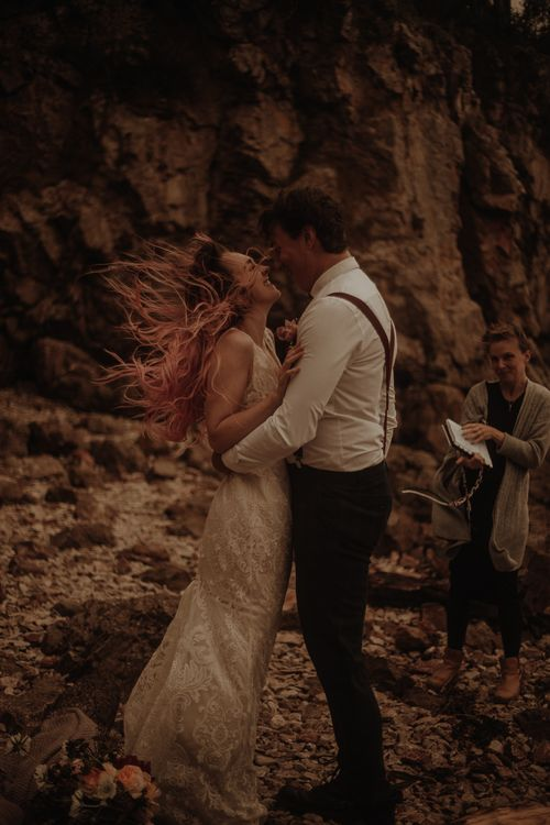 Moody elopement portraits  by Esme Whiteside Photography