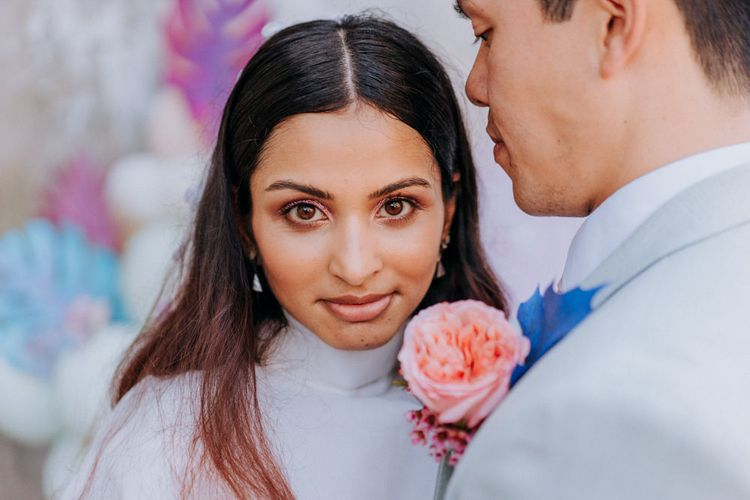 glitter eyeshadow or festival bride