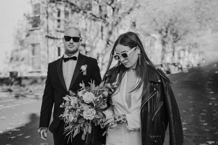 black and white wedding portrait by Epic Love Story
