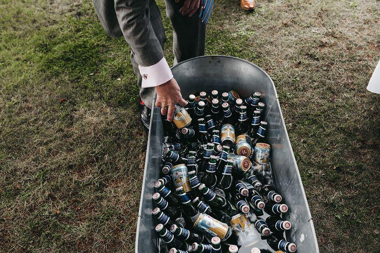 Booze bath wedding drinks