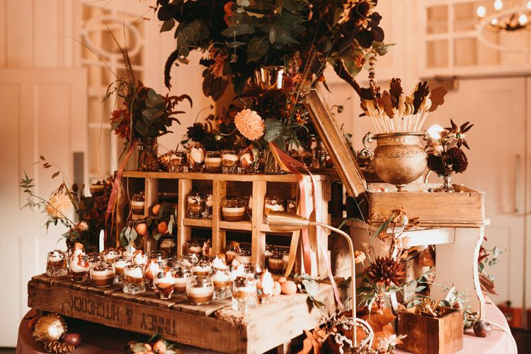 Dessert table with individual treats
