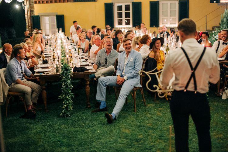 Informal group wedding shot