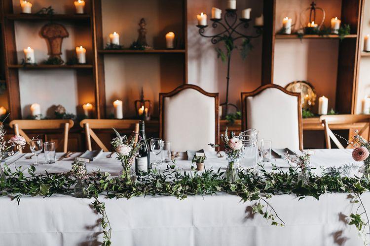 Wedding top table decor